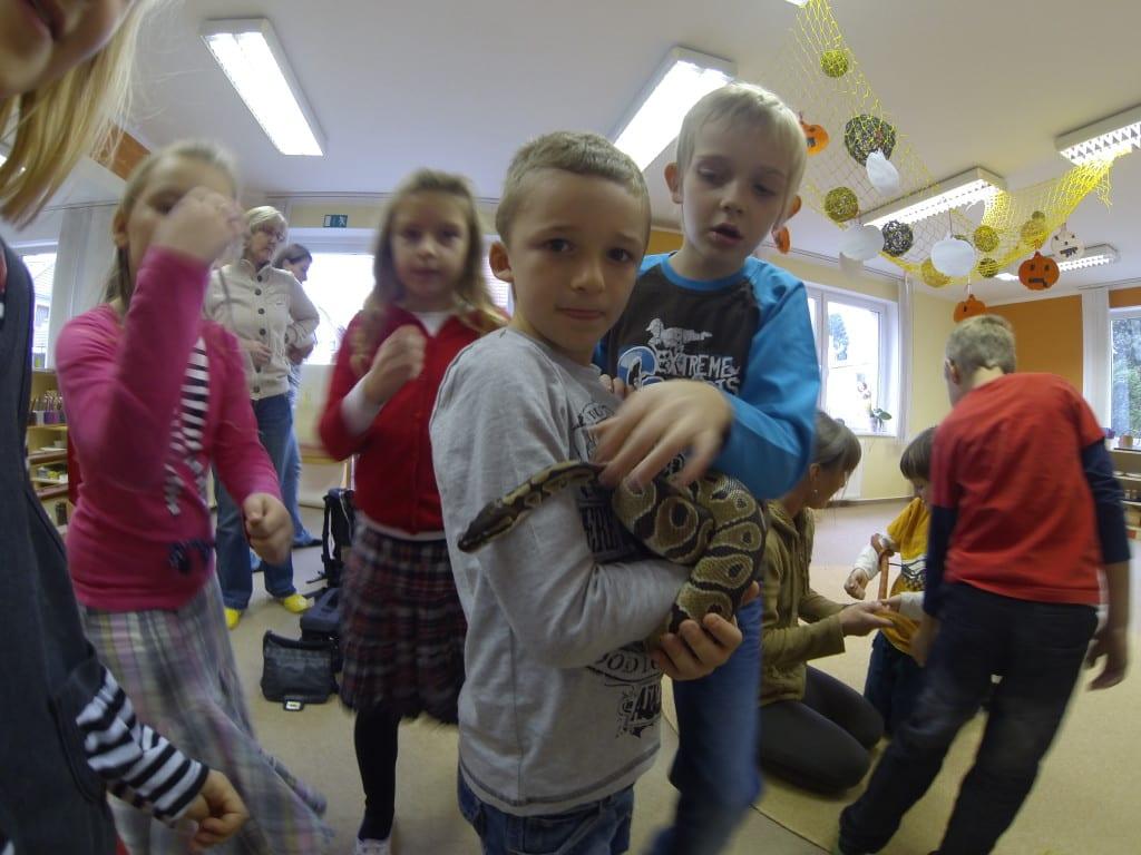 Seznámení s hady v ZŠ Sofie